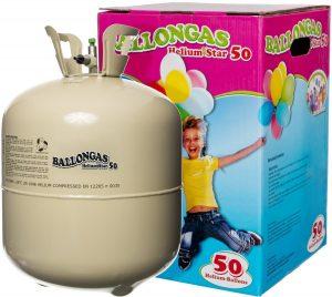 Helium als Ballongas in typischer Einwegflasche
